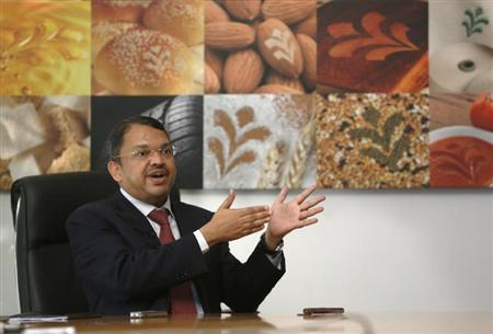 Group Managing Director and Chief Executive Officer Sunny Verghese of Olam International Limited speaks during an interview with Reuters in Singapore November 29, 2012. REUTERS/Edgar Su