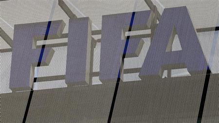 The logo of soccer's international governing body FIFA is seen on its headquarters in Zurich October 3, 2013. REUTERS/Arnd Wiegmann