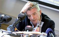 Ryanair's CEO Michael O'Leary attends a news conference at the Scandic Grand Central hotel in Stockholm August 29, 2013. REUTERS/Bertil Enevag Ericson/Scanpix Sweden
