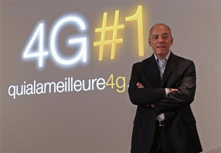 France Telecom-Orange Chairman and CEO Stephane Richard poses before a news conference to launch the Orange 4G network in Paris September 9, 2013. REUTERS/Jacky Naegelen