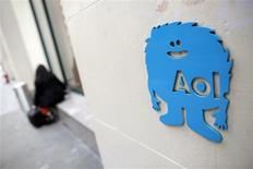 The AOL logo is seen at their office in New York November 5, 2013. REUTERS/Andrew Kelly
