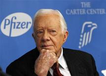 Former U.S. President Jimmy Carter attends a news conference in New York November 5, 2013. REUTERS/Adam Hunger