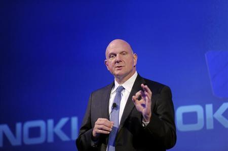 Microsoft Chief Executive Steve Ballmer speaks during a Nokia news conference in Espoo September 3, 2013. REUTERS/Markku Ulander/Lehtikuva/Files
