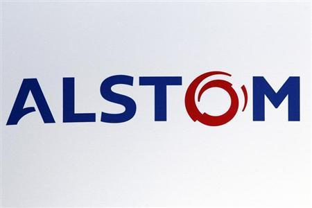 The logo of French power and transport engineering company Alstom is pictured during a news conference to present the company's 2011-2012 annual results in Paris May 4, 2012. REUTERS/Charles Platiau