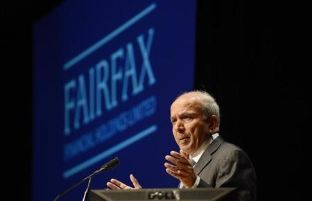 Fairfax Financial Holdings Ltd. Chairman and Chief Executive Officer Prem Watsa speaks during the company's annual meeting in Toronto April 11, 2013. REUTERS/Aaron Harris/Files
