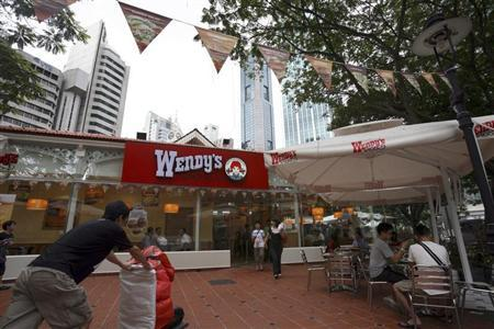 A view of the U.S. hamburger franchise Wendy's restaurant is seen in Singapore December 24, 2009. REUTERS/Drew Fritz