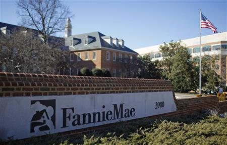 A sign in front of the Fannie Mae headquarters is seen in Washington in this file photo taken February 11, 2011. REUTERS/Molly Riley/Files