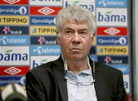 Norway's national soccer team outgoing head coach Egil Olsen attends a news conference in Oslo September 27, 2013. REUTERS/Erlend Aas/NTB Scanpix