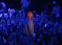 "Kanye West performs ""Blood on the Leaves"" during the 2013 MTV Video Music Awards in New York August 25, 2013. REUTERS/Eric Thayer"