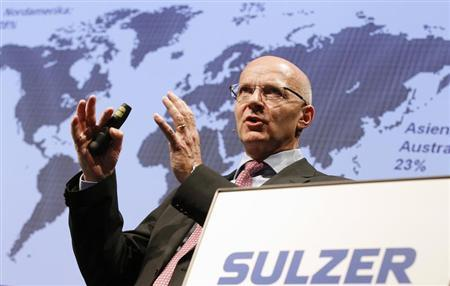 Klaus Stahlmann, chief executive of Swiss engineering group Sulzer, speaks at the company's annual news conference in Winterthur February 15, 2013. REUTERS/Michael Buholzer