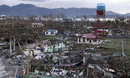A view of destroyed houses after super Typhoon Haiyan battered Tacloban city in central Philippines November 9, 2013. REUTERS/Erik De Castro