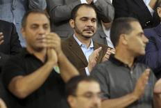 Jordan's Prince Ali bin Al-Hussein (C) attends Jordan's 2014 World Cup qualifying soccer match against Uzbekistan at King Abdullah stadium in Amman September 6, 2013. REUTERS/Muhammad Hamed