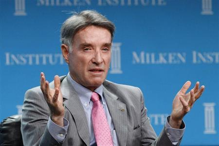 Eike Batista, Chairman and CEO of EBX Group speaks at a dinner panel discussion at the Milken Institute Global Conference in Beverly Hills, California April 30, 2012. REUTERS/Mario Anzuoni