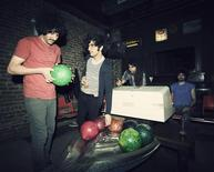 Members of indie band the Yellow Dogs, (L-R) Soroush Farazmand, Koory Mirz, Siavash Karampour and Arash Farazmand are shown at The Gutter bowling alley in Williamsburg neighbourhood in New York in 2011, in this picture released to Reuters on November 11, 2013. REUTERS/Danny Krug/Handout via Reuters