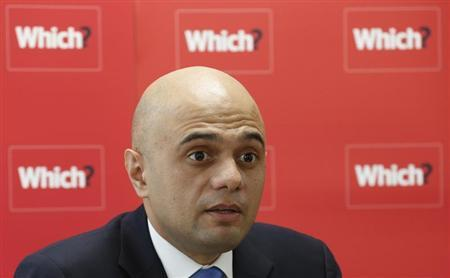 Britain's Economic Secretary to the Treasury Sajid Javid speaks during a news conference about the consumer payday loan market, in London March 6, 2013. REUTERS/Suzanne Plunkett