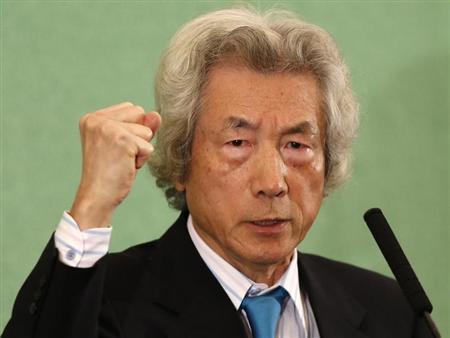 Japan's former Prime Minister Junichiro Koizumi speaks at the Japan National Press Club in Tokyo November 12, 2013. REUTERS/Toru Hanai