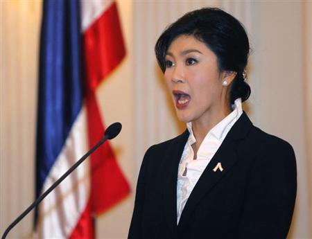 Thailand's Prime Minister Yingluck Shinawatra speaks during a news conference at the Government House in Bangkok November 11, 2013. REUTERS/Chaiwat Subprasom