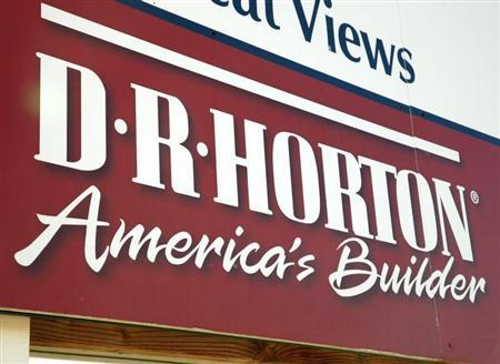 The sign for a development built by D.R. Horton is seen in Arvada, Colorado November 19, 2009. REUTERS/Rick Wilking