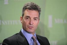 "Daniel Loeb, CEO, Third Point LLC, participates in the ""Financial Firms: Past, Present and Future"" panel at the 2010 Milken Institute Global Conference in Beverly Hills, California April 27, 2010. REUTERS/Phil McCarten"