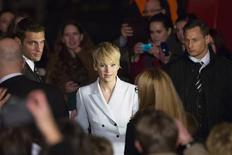 "Cast member Jennifer Lawrence arrives for a red carpet event before the German premiere of ""The Hunger Games: Catching Fire"" in Berlin, November 12, 2013. REUTERS/Thomas Peter"