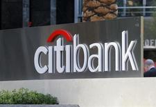 Citibank's logo is pictured in downtown Los Angeles, California April 14, 2011. REUTERS/Fred Prouser