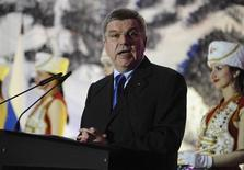 International Olympic Committee (IOC) President Thomas Bach speaks during the opening of conference on sport and the environment in Sochi October 30, 2013. REUTERS/Nina Zotina