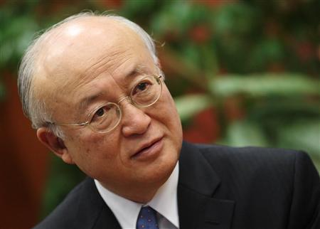 Yukiya Amano, director general of the International Atomic Energy Agency (IAEA), talks during an interview with Reuters in Vienna November 13, 2013. REUTERS/Heinz-Peter Bader