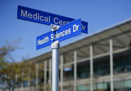 Street signs are pictured at the University of California San Diego (UCSD) in San Diego, California, February 28, 2013. REUTER/Mike Blake