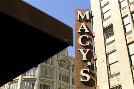 A sign is seen outside a Macy's retail store in San Francisco, California August 14, 2013. REUTERS/Robert Galbraith