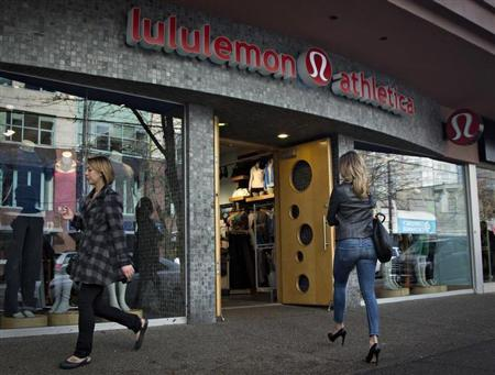 A customer enters the Lululemon store in downtown Vancouver, British Columbia November 8, 2013. REUTERS/Andy Clark
