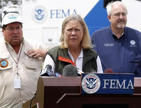 U.S. Senator Mary Landrieu (D-LA) speaks during a news conference in Belle Chasse, Louisiana, August 31, 2012. REUTERS/Jonathan Bachman