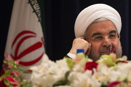 Iran's President Hassan Rouhani takes questions from journalists during a news conference in New York September 27, 2013. REUTERS/Adrees Latif/Files