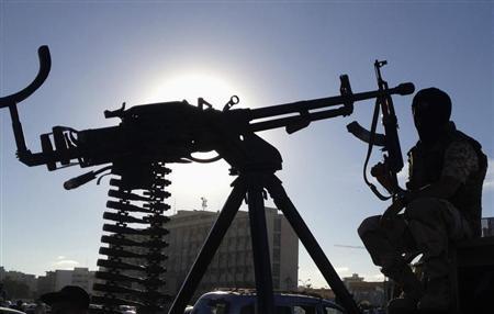 A member of the Libyan Army special forces in Benghazi October 3, 2013. REUTERS/Esam Omran Al-Fetori