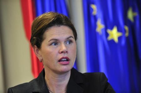 Slovenia's Prime Minister Alenka Bratusek speaks during an interview in Ljubljana September 27, 2013. REUTERS/Srdjan Zivulovic