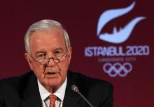 International Olympic Committee (IOC) Vice President and chairman of the IOC Evaluation Commission Craig Reedie speaks during a news conference in Istanbul March 27, 2013. REUTERS/Murad Sezer