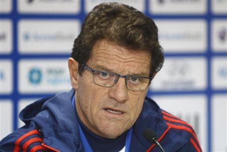 Russia's national team head coach Fabio Capello speaks during a news conference ahead of their 2014 World Cup qualifying soccer match against Azerbaijan in Baku, October 14, 2013. REUTERS/David Mdzinarishvili