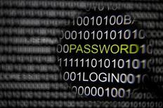 Lupa é segurada em frente a uma tela de computador em uma fotografia tirada em Berlim. Hackers ativistas ligados ao coletivo conhecido como Anonymous acessaram secretamente computadores do governo dos Estados Unidos em várias agências e roubado informações confidenciais em uma campanha que começou há quase um ano, alertou o FBI esta semana. 17/05/2013. REUTERS/Pawel Kopczynski