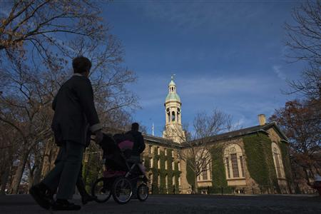 People walk around the Princeton University campus in New Jersey, November 16, 2013. REUTERS/Eduardo Munoz