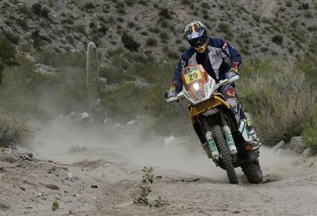 Kurt Caselli of the U.S rides his KTM during the 8th stage of the Dakar Rally 2013 from Salta to San Miguel de Tucuman January 12, 2013 file photo. REUTERS/Jacky Naegelen