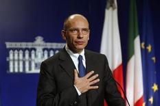 Italian Prime Minister Enrico Letta takes part in a joint news conference with Malta's Prime Minister Joseph Muscat (not pictured) at Muscat's office at the Auberge de Castille in Valletta November 11, 2013. REUTERS/Darrin Zammit Lupi