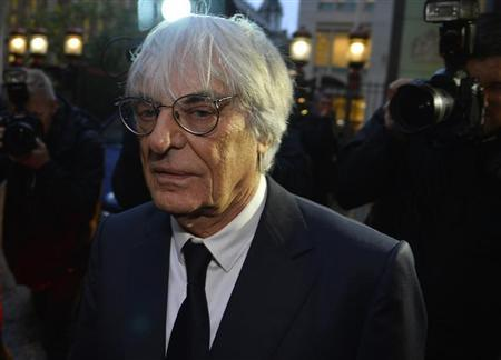 Formula One Chief Executive Bernie Ecclestone leaves the High Court in central London November 6, 2013 file photo. REUTERS/Toby Melville