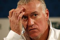 France's national soccer team head coach Didier Deschamps attends a news conference at Stade de France's stadium in Saint-Denis, near Paris November 18, 2013. REUTERS/Charles Platiau