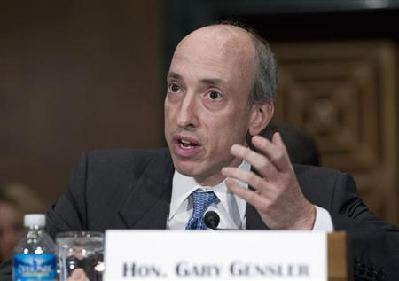 Commodity Futures Trading Commission Chair Gary Gensler testifies at a Senate Banking, Housing and Urban Affairs Committee hearing on Capitol Hill July 30, 2013. REUTERS/Jose Luis Magana