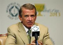 PGA Tour Commissioner Tim Finchem speaks to the media at the Memorial Tournament at Muirfield Village Golf Club in Dublin, Ohio June 2, 2010. REUTERS/Matt Sullivan