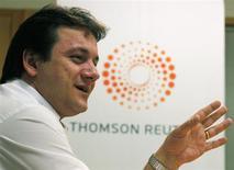 Wesley Batista, presidente-executivo da JBS, fala à Reuters durante o Reuters Latin American Investment Summit em São Paulo em 2011. A eficiência em custos e sinergias decorrentes da integração de mais de uma dúzia de aquisições feitas desde 2007 vão ajudar a brasileira JBS, maior frigorífico do mundo, a cumprir as metas de dívida autoimpostas até o final do próximo ano, sem alienação de ativos, disse seu presidente-executivo, Wesley Batista, nesta quarta-feira, dia 20 de novembro de 2013. 25/03/2011 REUTERS/Paulo Whitaker