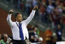 Serbia's coach Sinisa Mihajlovic reacts during their 2014 World Cup qualifying soccer match against Belgium at the King Baudouin stadium in Brussels June 7, 2013. REUTERS/Francois Lenoir