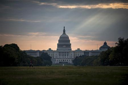 The U.S. Capitol building is seen on Tuesday morning after the federal government was shutdown when the House and Senate failed to pass a budget in Washington October 1, 2013. REUTERS/James Lawler