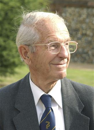 Fred Sanger, a double Nobel Prize-winning British biochemist is seen in this picture provided by Genome Research Limited received by Reuters November 20, 2013. REUTERS/Genome Research Limited/Handout via Reuters