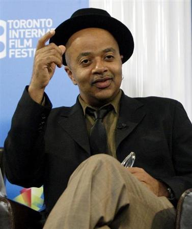 Author James McBride gestures during the ''Miracle at St. Anna'' news conference at the 33rd Toronto International Film Festival September 7, 2008. REUTERS/ Mike Cassese