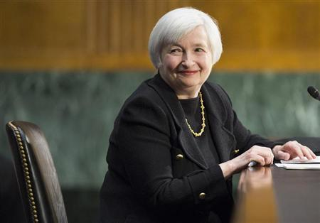 U.S. Federal Reserve Vice Chair Janet Yellen testifies during a Senate Banking Committee confirmation hearing on her nomination to be the next chairman of the U.S. Federal Reserve, on Capitol Hill in Washington November 14, 2013. REUTERS/Joshua Roberts
